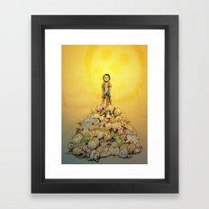 Conan the destroyer of...fluff Framed Art Print