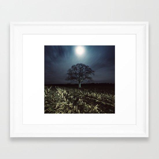 Rushing Clouds Framed Art Print