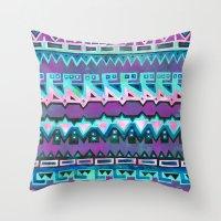 AZTEC STRIPE - Pink Throw Pillow