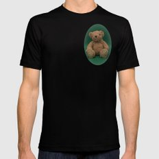 Teddy Bear Green Mens Fitted Tee SMALL Black
