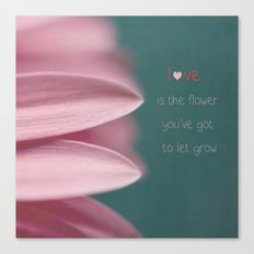 Let Love Grow Canvas Print