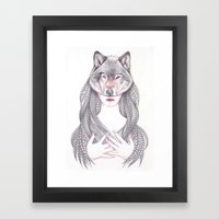 Wolf Heart Framed Art Print