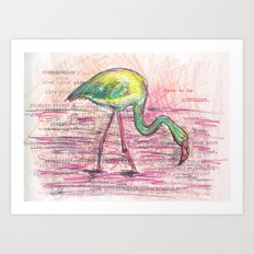 Dare to be different, Flamingo Art Print