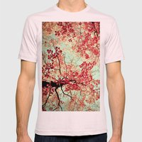 Autumn Inkblot Mens Fitted Tee Light Pink SMALL