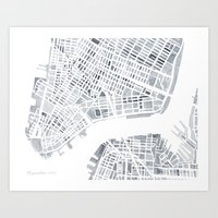 Manhattan Gray NYC Art Print
