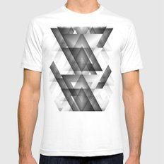 Trianglism  Mens Fitted Tee White SMALL