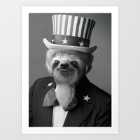 Life as an American Sloth Art Print