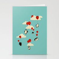 clouds Stationery Cards featuring We Can Fly! by Jay Fleck