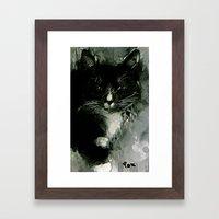 TUXEDO Framed Art Print
