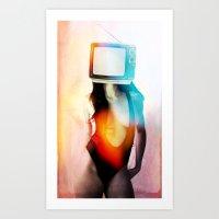 SEX ON TV - BLACKY By ZZ… Art Print