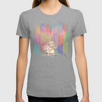 MAMA OUDA WHEN IT RAINed Womens Fitted Tee Tri-Grey SMALL