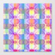 Cool Warm Mosaic Canvas Print