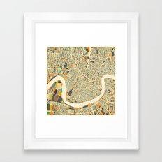 New Orleans Map Framed Art Print