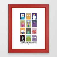 Minimalist Adventure Time Poster Framed Art Print