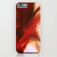 iPhone & iPod Case featuring ruby feathers by Krista Glavich