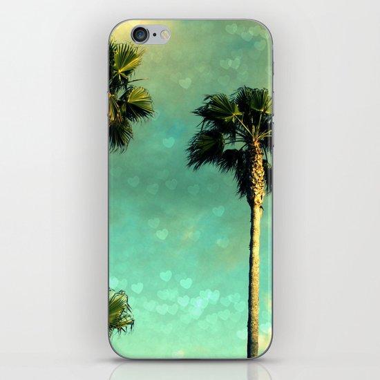 Palm Trees Heart Bokeh iPhone & iPod Skin