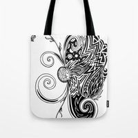 Spirit of Spring B&W Tote Bag