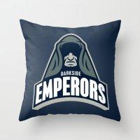 DarkSide Emperors -Blue Throw Pillow