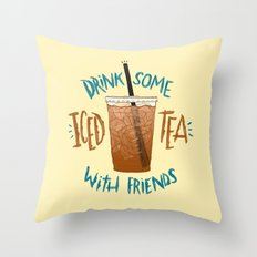 Happy National Iced Tea Day! Throw Pillow