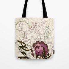 Peach and purple  artichoke Tote Bag