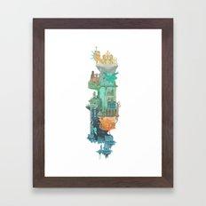 Dark Souls World Map Framed Art Print