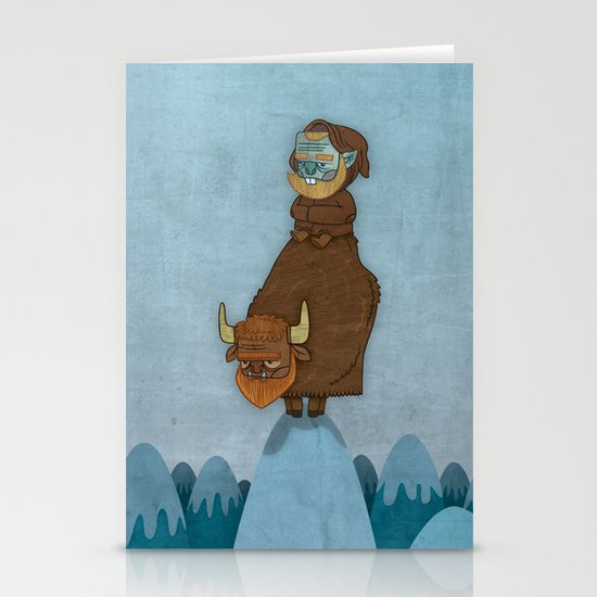 Man of the Mountains Stationery Card