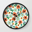 Floral Time Wall Clock