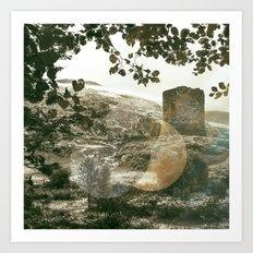 A Castle in Wales Art Print