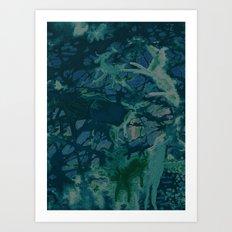 Barnyard Whirl Art Print