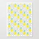 Pineapple fun modern minimal scandi design fresh fruit tropical island summer beach socal vegan Canvas Print