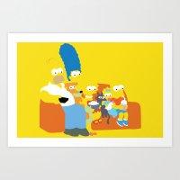 The Simpsons - Family Art Print