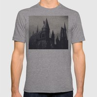 Ominous Castle Mens Fitted Tee Athletic Grey SMALL
