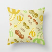 Banana & Peanut Butter Throw Pillow
