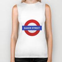 Sherlock Baker Street Print Biker Tank