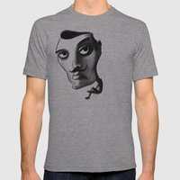 Imposter with a fake M... Mens Fitted Tee Athletic Grey SMALL