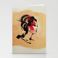 Spring Geisha Stationery Cards
