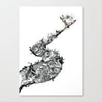 Snowboard'INK! Canvas Print