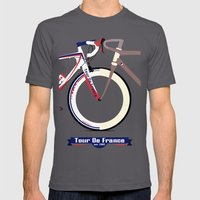 Tour De France Mens Fitted Tee Asphalt SMALL