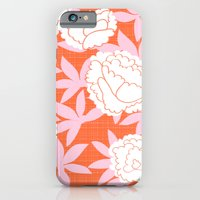 iPhone & iPod Case featuring Zen Floral _ pink& coral by fable design