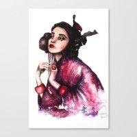 Geisha Girl // Fashion I… Canvas Print