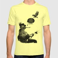 DEATH BLUES Mens Fitted Tee Lemon SMALL