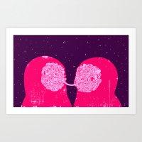 Quantum Lovers Art Print