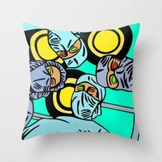 COBRADRELLA- La Peur d'Andy Warhol Throw Pillow