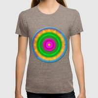 Sunshine And Rainbows Womens Fitted Tee Tri-Coffee SMALL
