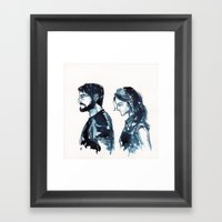 Without Her. Framed Art Print