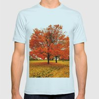 Changing Colors. Mens Fitted Tee Light Blue SMALL
