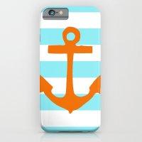 Orange Nautical Stripe iPhone 6 Slim Case