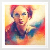 Stood Beneath An Orange … Art Print