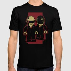 Daft Block Black SMALL Mens Fitted Tee