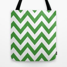 MEAN GREEN CHEVRON Tote Bag